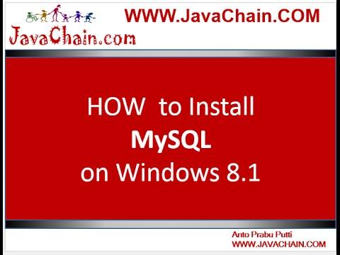How to Install MySQL on Windows 8.1 OS
