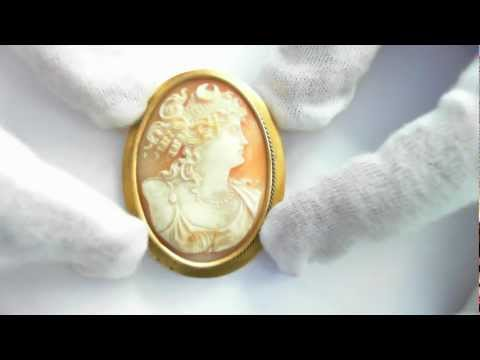 Antique Cameo Pin/Pendant - 10k