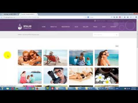 Setting up portfolio template page