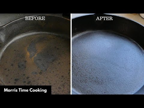 How To Restore A Rusty Cast Iron Skillet | Lesson #77 | Morris Time Cooking new