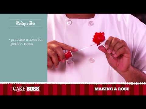 How To Make an Icing Rose - Cake Decorating Ideas Part 2 - Cake Boss Baking