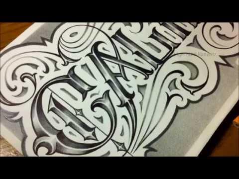 California Custom Chicano Fancy Script Tattoo Style Letters