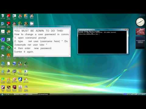 Change a password in command prompt