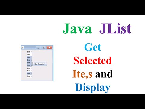 Java JList  - Get Selecetd Items and Display