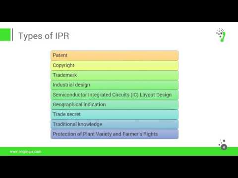 Overview on Intellectual property Rights (IPR)