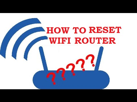 HOW TO RESET WIFI ROUTER / CHANGE PASSWORD ???