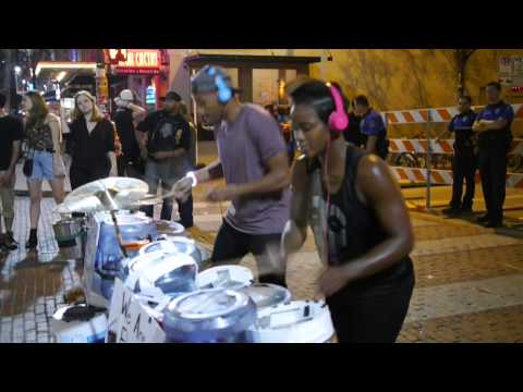 Street Drummers at SXSW