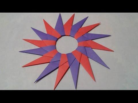 How To Make Amazing 16 Pointed Ninja Star - Creative paper Craft