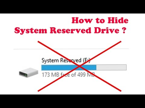How to hide system reserved drive in window 10 ?
