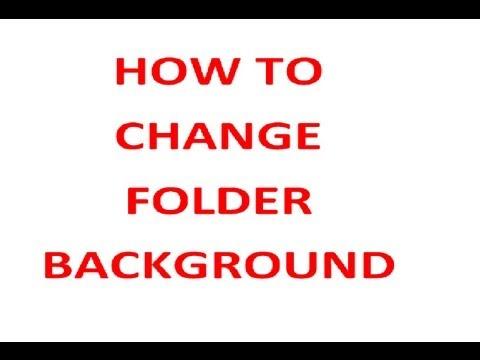How to change Folder Background using notepad