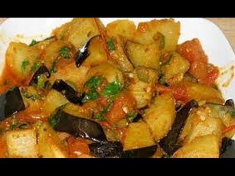Spicy Aloo Baingan (Brinjal) Ki Sabji | Potato Eggplant vegetable Recipe