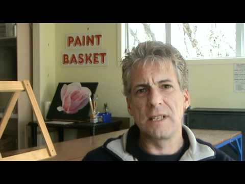 Horizontal lines in painting