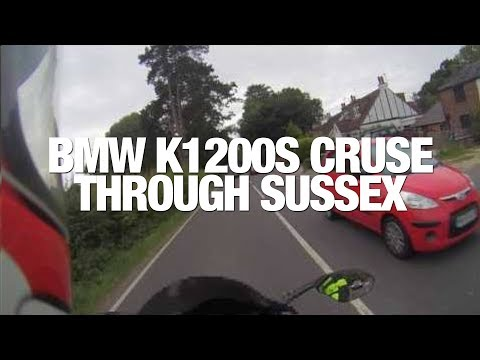 ★ BMW K1200S (NOT K1300S) MOTORCYCLE TOURING SUSSEX ★ SOUTHERN ENGLAND ON MOTORCYCLE