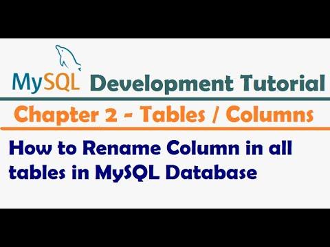 How to Rename Column in all tables in MySQL Database - MySQL Developer Tutorial