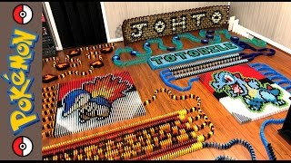 """Johto Starters """"Pokemon of the Month In 16,711 Dominoes!"""""""