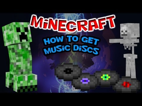 How to easily get Music Discs in Survival Mode - Minecraft Xbox 360/PC Tutorial