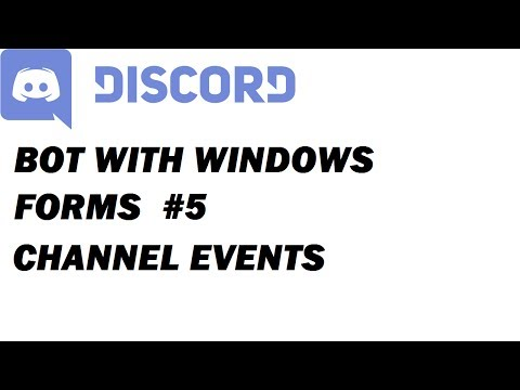 VOICE CHANNEL EVENTS | Discord Bot in Windows Forms #5 [1080]