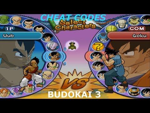 Budokai 3 Cheat Codes :  Unlock all Characters and Arenas