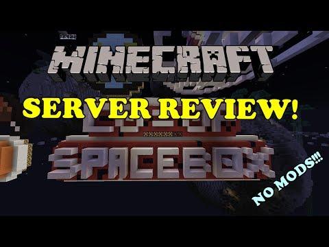 Minecraft Server Showcase: SPACEBOX   NO MODS! 100% VANILLA!