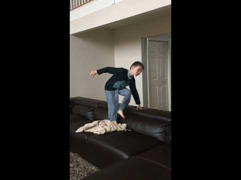 How to do a back flip on the couch Tutorial