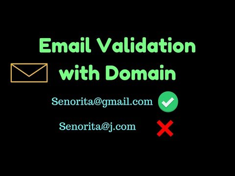 How to validate email address with domain name in php