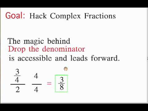 Hacking Complex Fractions (For educators)