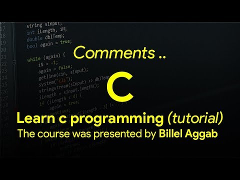 4 - Comments [ Learn C in Arabic ]