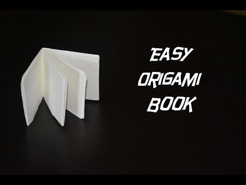 How to make an easy origami book (Christmas decorations)