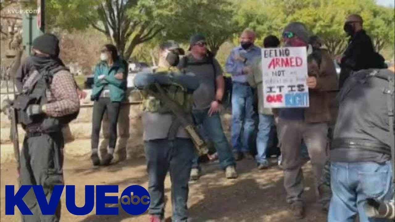 Armed gun rights advocates rally outside the Texas Capitol | KVUE