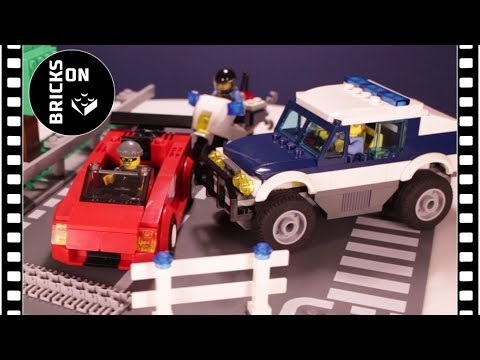 LEGO CITY POLICE 60007 HIGH SPEED CHASE Speed Build Instruction Lego Stop Motion Animation Brickfilm