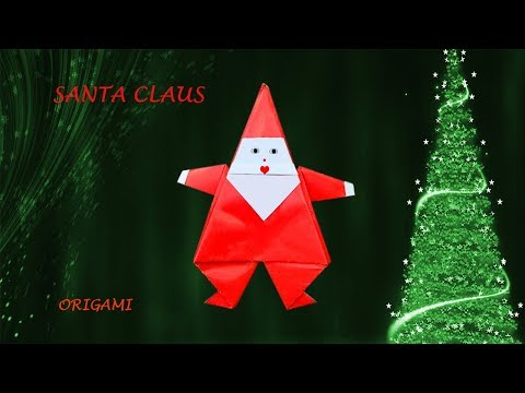 Christmas Santa Claus - Fun DIY easy origami for Xmas and New Year decoration