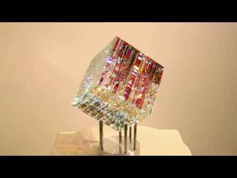MAGIK CHROMA CUBE - Glass Sculpture by Jack Storms