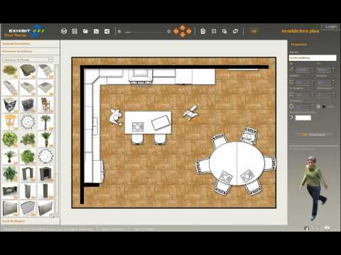 Design a new kitchen with ExhibitCore Floor Planner 4 of 4