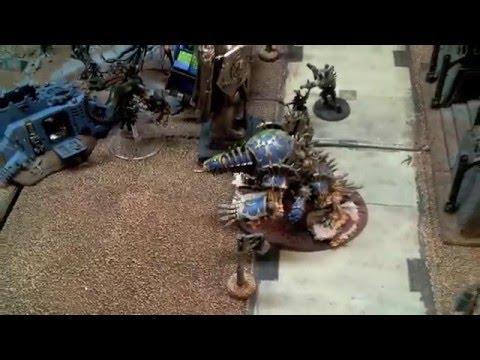 Dark Eldar vs Chaos Space Marines 40k Battle Report - 1500pts