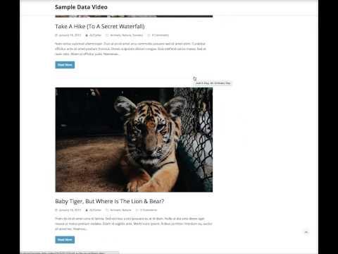 Installing WordPress Sample Data - Total WordPress Theme