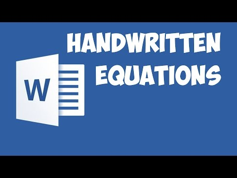 Word 2016 - Inserting equation using your handwriting