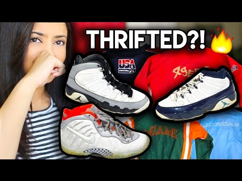 FIRE THRIFT TRIP FOR SNUPPS | Jordan 9's, Foamposites, Air Max's, Stan Smiths, + Vintage Gear