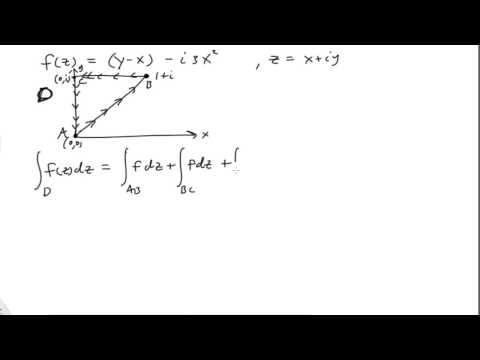 Contour integrals of complex functions