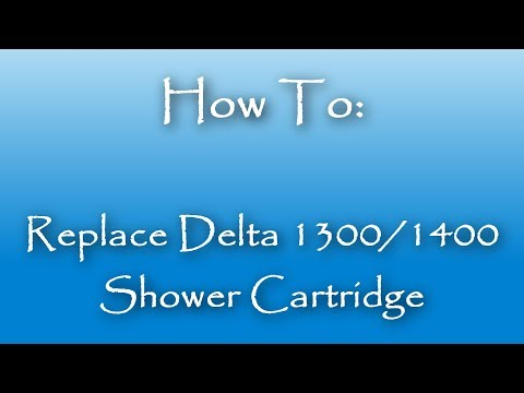 How To Replace A Delta 1300 / 1400 Shower Cartridge