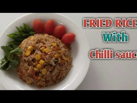 FRIED RICE WITH CHILLI SAUCE | without monosodium glutamate ( full healthy ) | nice for lunch.
