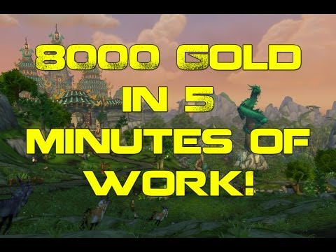 WoW Gold - 8k Gold in 5 Minutes of Work - How to EASILY Play the Auction House - Dubisttot