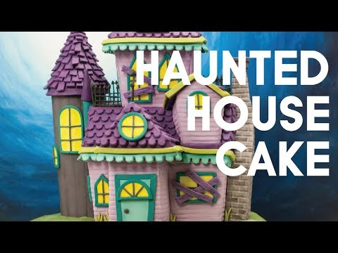 Haunted House Halloween Cake tutorial - Boo Crew Collaboration