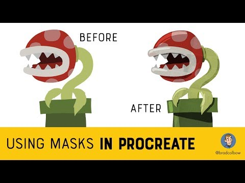 Drawing With Masks in Procreate 4 Tutorial