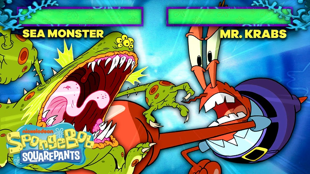 Mr. Krabs Joins the Battle Video Game Arena! 🦀🥊 SpongeBob SquareOff