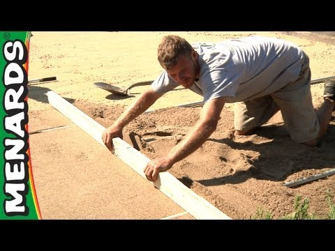 Prepare a Paver Base - How To - Menards