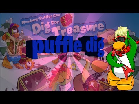 Clubpenguin-Puffle dig -Finding RARE items