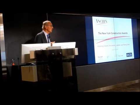 Richard T. Anderson of NYBC - Keynote Speech at Construction Awards