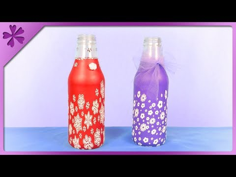 DIY How to make flower vase out of balloon and bottle (ENG Subtitles) - Speed up #438