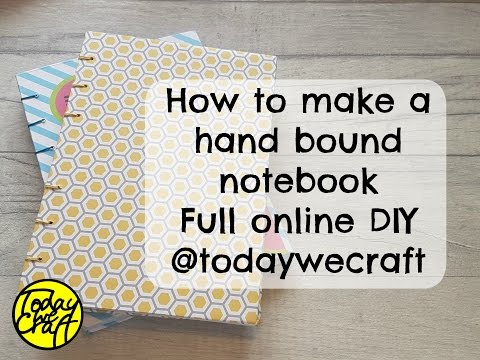 How to make a hand bound note book