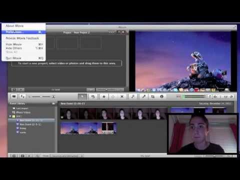 how to create an overlay effect on imovie 11'